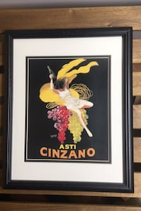 'Asti Cinzano' Framed Vintage Advertisement on Paper