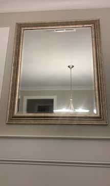 Glass mirror with Gold Frame
