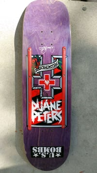 Duane Peters Red Cross board signed. Very rare