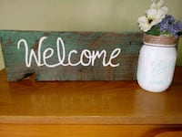 Handmade welcome sign Owosso, 48867