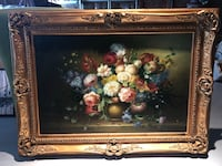 Original Floral Oil Painting w/ Certificate of Authenticity (Signed) Richmond Hill
