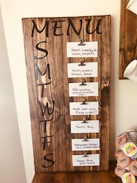 Hand made menu chart Summerville, 29486