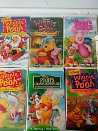 Pile of Pooh vhs tapes