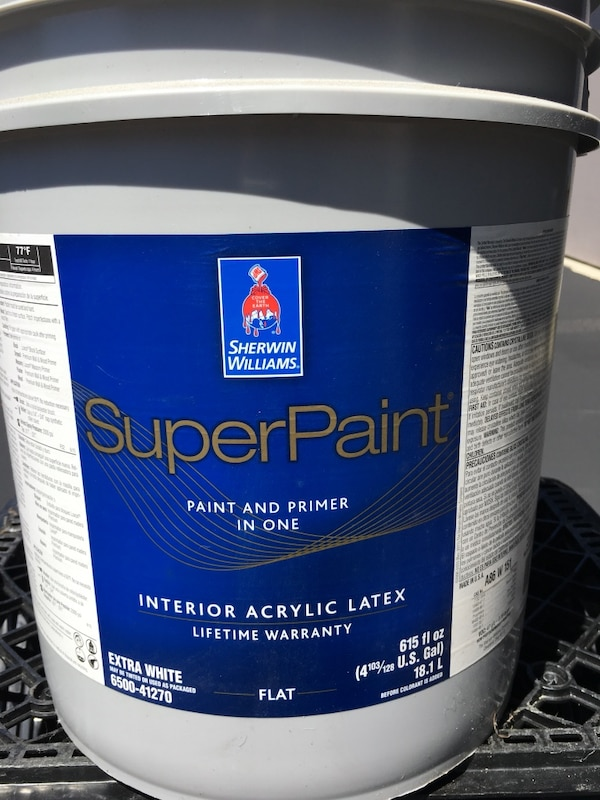 New - sherwin williams superpaint paint - 5 gallons - price negotiable