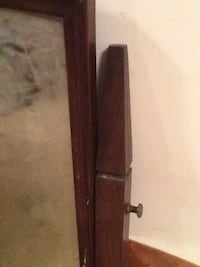 Antique Bureau Mirror Walnut