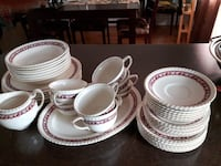 white ceramic plates and bowls Laval, H7M 4T6