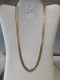 """14 kt Gold Chain 23"""" 26.6 grams, 7 mm. (Firm) Wethersfield, 06109"""