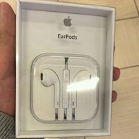 white Apple EarPods in box Montreal
