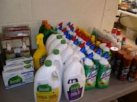 Table Filled With Household Cleaning Supplies etc Norfolk, 23503