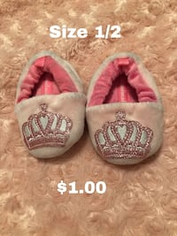 pair of pink and white slippers 1483 mi