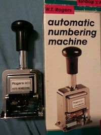 W.T Rodgers Automatic Numbering Machine. 04213. $20