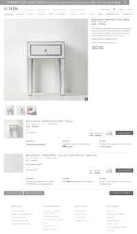 Restoration Hardware Beaumont Mirrored Side Table Los Angeles, 90036