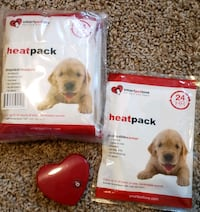 Puppy mate heatpacks and heart