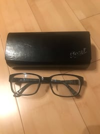 Black Reading glasses with case