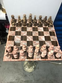 Marble chess (fee pieces chipped please see photos ) Toronto, M3H 5R9