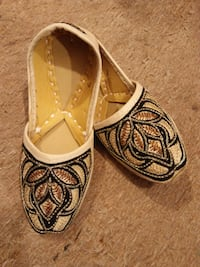 Baby Khussa Shoe with Black and Copper Embroidery ISLAMABAD