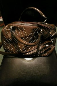 brown and black leather handbag Youngstown, 44502