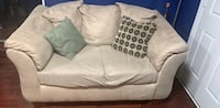 white fabric sofa with throw pillows Silver Spring, 20906