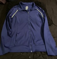 Blue Danskin Dri Fit Athletic Jacket Sz Medium Cabot, 72023