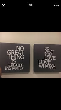 two quote paintings