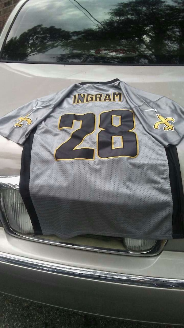 new product 21a5d 0e2b6 gray New Orleans Saints Ingram 28 jersey