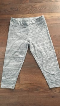 gray and white striped pants