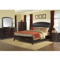 7 piece brown wooden bedroom set Oakville