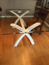 Bevelled Glass Dining Table 125LBS