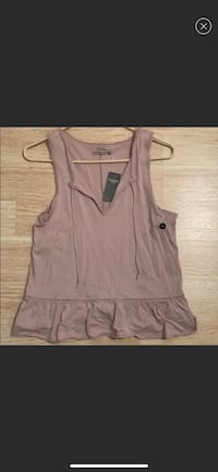 Women's purplish gray sleeveless top