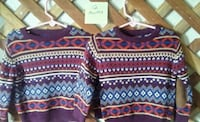 New! 2 - 12 month sweaters, $5.00 each, $10 both 1395 mi