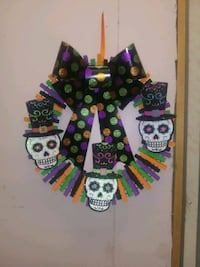 Handmade Halloween Clothes Pin Wreath West Wyoming, 18644