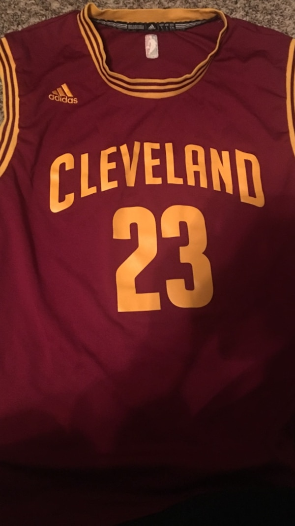 big sale ed5ee 6c0c2 Maroon and orange cleveland cavaliers 23 lebron james jersey shirt