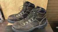 Redwing - pair of black leather work boots