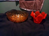 two red ceramic bowl and bowl Wichita, 67216