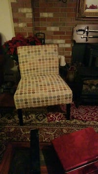 brown and white fabric sofa chair