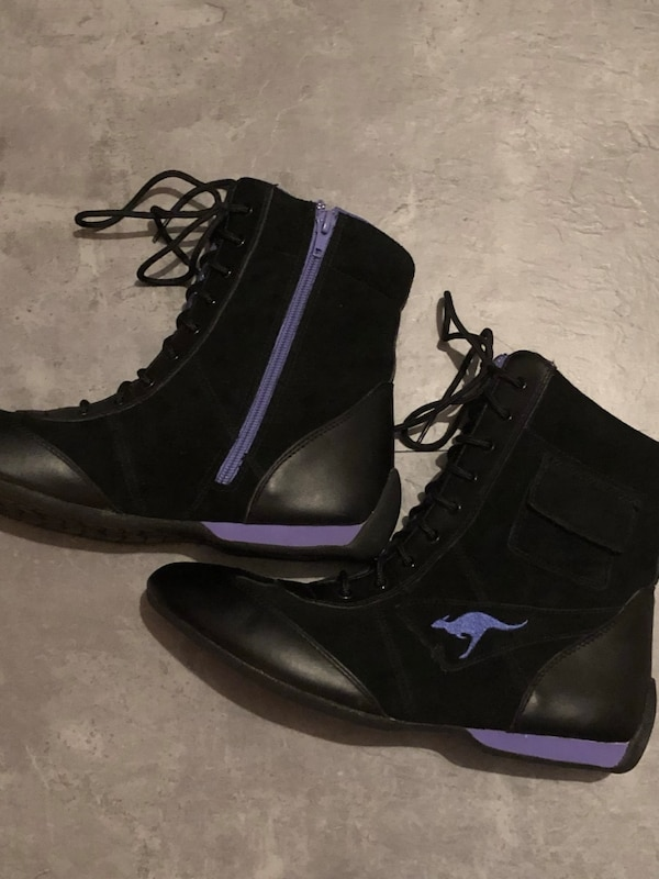 Garoos (Kangaroos) designer lace up or zip up short boots size 10, never worn, excellent condition, paid $132 US at Macy's