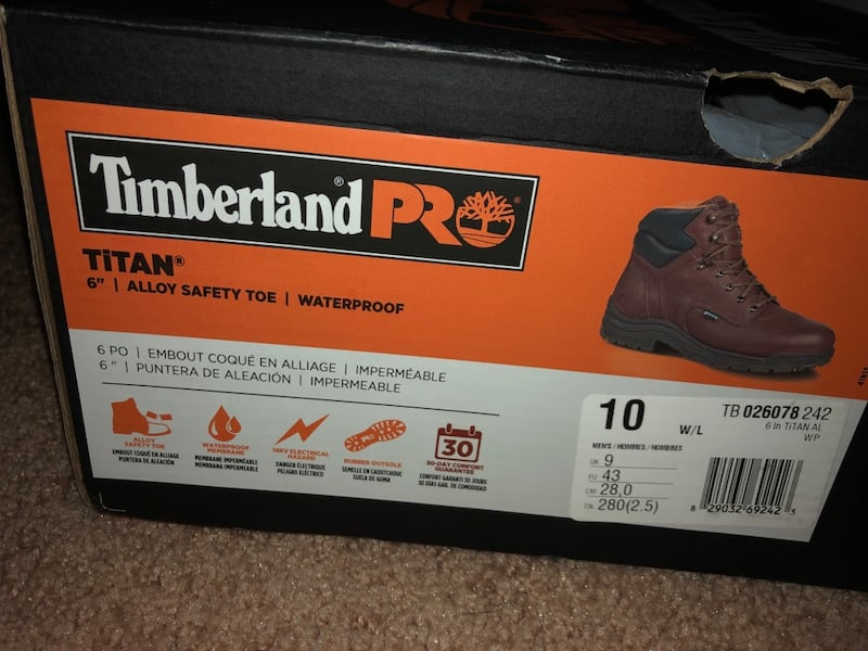 Timberland Never Used Steel Toe Boots size 10 1