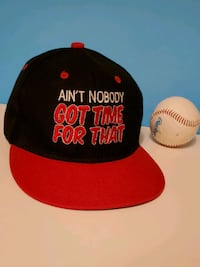 Black Red Graphic Funny Novelty Snapback Hat