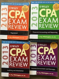 Becker CPA exam review. 4 books Crown Point, 46307