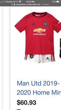 MANCHESTER UNITED baby set 18-24 months
