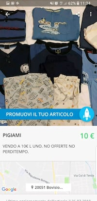 screenshot di vestiti assortiti da donna Varedo, 20814
