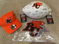 2019 BC LIONS SIGNED BALL AND DRAFT HAT Vancouver, V6E 2Y2