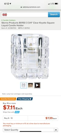 Crystal square candle holders (9)