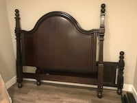 Bed Frame  (very solid wood)  very good condition  queen size Burnaby, V5B 1H4