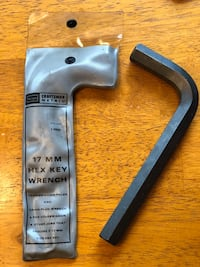 Sears Craftsman 17mm Hex Key Wrench Brentwood, 37027