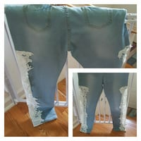 Side lace size 12 jeans 312 mi