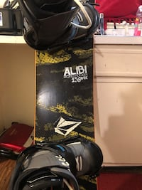 Black and red snowboard with bindings Rochester, 14608