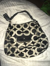 black and white Coach monogram hobo bag Oakville, L6J 2W6