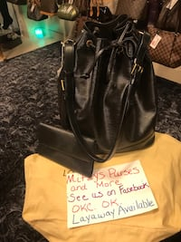 Auth Louis Vuitton Blk Epi being listed from Mitzys Purses and More