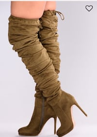 Olive over the knee boots- BRAND NEW Vaughan, L4H 0W1